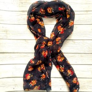 AEO navy floral scarf